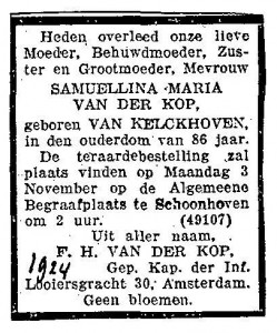 Adrianus Johannes Groeneveld van der Kop (11)